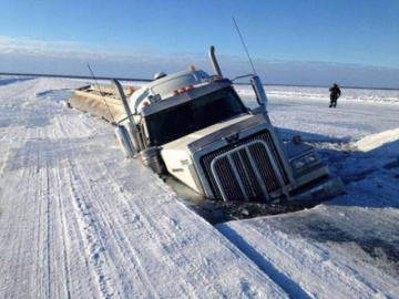 Дороги севера России ледяной капкан
