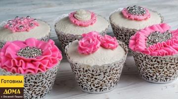 Украшение капкейков мастикой Как украсить кексы для девушки