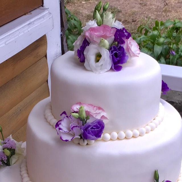 Видео рецепт -  Свадебный торт своими руками