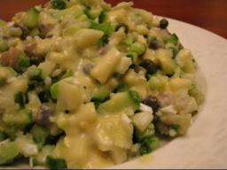 Салат с малосольной сельдью и авокадо |Рецепт