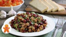 Салат с фасолью по-грузински (постный) |Рецепт