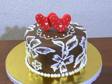 Как украсить торт своими руками Ажурное украшение торта | Мастер-класс