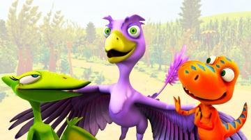 Мультфильм Поезд Динозавров - Маленький динозавр