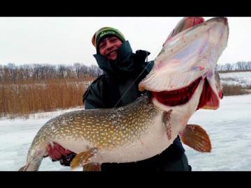 ТОЛСТАЯ ЩУКА НА ЗИМНЕЙ РЫБАЛКЕ 2018 Рыбалка на щуку зимой Вот это рыбалка Ты не поверишь 2018 часть