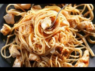 Юлия Высоцкая — Спагетти с рыбой