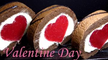 Позитивная Кухня КЛУБНИЧНЫЙ РУЛЕТ Сердце ОЧЕНЬ ВКУСНЫЙ И КРАСИВЫЙ Шоколадный бисквитный торт