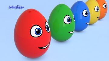 Яйца с сюрпризом Учим цвета Развивающий мультик для детей