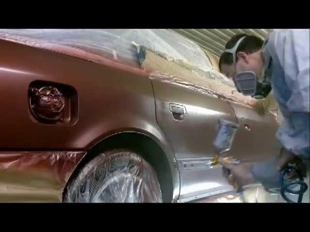 Быстрый урок покраски автомобиля.