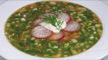 Люда Изи Кук Урааа! КВАС и ОКРОШКА! Освежающий холодный суп в летнюю жару! | OKROSHKA COLD SOUP