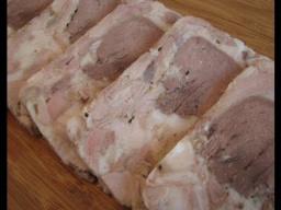 Ирина Хлебникова -  Домашняя ветчина из свиной рульки с языком рецепт
