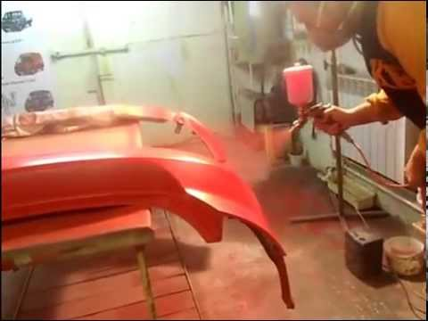 Как покрасить пластиковые бампера