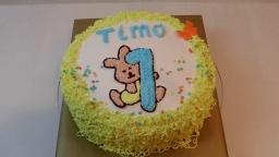 детский торт-раскрасска на годик мальчику