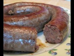 Ирина Хлебникова -  Домашняя колбаса с куриной печенью и гречкой рецепт