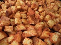 Сухарики, поджаренные на растительном масле с паприкой /  Обед безбрачия
