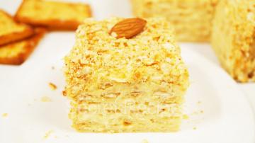 Алена Митрофанова Торт Наполеон без выпечки. Вкуснейший торт из печенья с заварным кремом | Сake Nap