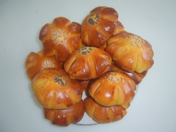 Тыквенные булочки Цветочки | Рецепт Маринкины Творинки