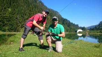 Рыбалка в Австрии. Прудовая ловля форели. Area fishing Austria 2015. Trout