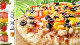 Пицца из лаваша на толстом тесте | Рецепт Алены Митрофановой