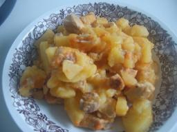 Тушённый картофель в скороварке | Рецепт Маринкины Творинки