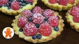 Корзиночки (тарталетки) с заварным кремом и ягодами |Рецепт