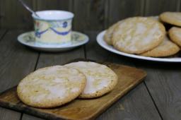 Овсяное печенье с корицей и лимонной глазурью |Рецепт