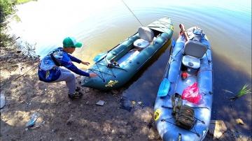 Рыбалка с Глебусом на каяке
