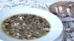 Мясной суп с грибами - Рецепт Бабушки Эммы