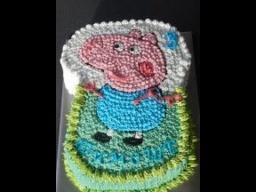 """детский торт  """"Свинка Пэппа и Джорж""""/ Jorg Wutz Peppa Wutz Torte"""