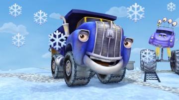 Мультики Трактаун - Зимний сборник Мультфильмов для мальчиков про машинки грузовики