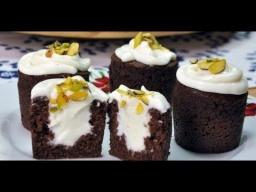 Шоколадное пирожное с кремом внутри - Супер простой и вкусный рецепт