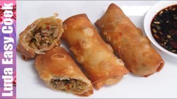 LudaEasyCook Жареные СПРИНГ РОЛЛЫ! Блюдо азиатской кухни рецепт | FRIED CHINESE SPRING ROLLS RECIPE