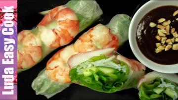 Люда Изи Кук Супер Закуска СВЕЖИЕ РОЛЛЫ Вьетнамская кухня Вкусно и Просто