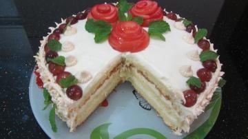Позитивная Кухня Торт Нежность hướng dẫn làm bánh kem sinh nhật Duyên Dáng dạy làm gato bông lan Tra