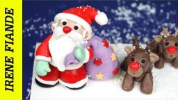 Видео - Как сделать Деда Мороза из мастики своими руками