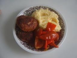 Толчённая картошка с котлетами | Рецепт Маринкины Творинки