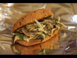 Юлия Высоцкая — Бутерброд-ссобойка с грибами и сыром
