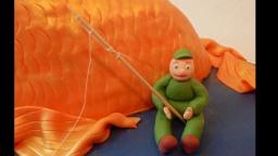 Мужской торт - Рыбак из мастики