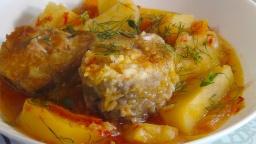 Светлана Чернова -  Рагу с рыбой и овощами- очень вкусно и сытно (Stew with fish and vegetables)