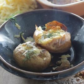 Юлия Высоцкая — Запеченный картофель с сыром