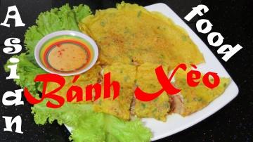 Позитивная Кухня [ВЬЕТНАМ ЕДА] Жареные Рисовые Блины Вьетнамская Кухня cách làm bánh xèo vietnamese