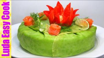 Шикарный закусочный торт на новый год