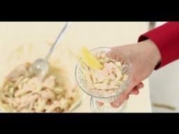 Подача (сервировка) коктейльного салата с кальмарами мастер-класс от шеф-повара / Илья Лазерсон