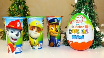 Сюрпризы Щенячий патруль Игрушки Киндер Сюрприз Макси Видео для детей Unboxing Surprise toys
