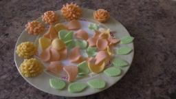 Мастика для  торта и цветы из нее
