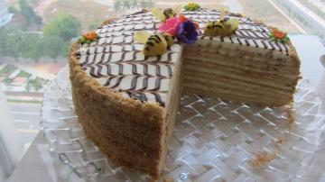 Позитивная Кухня làm bánh kem Mật Ong Honey Cake recipe Торт Медовик hướng dẫn làm bánh kem sinh nhậ