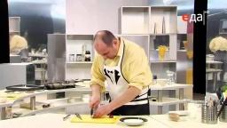 Жареная треска с холодным горчично-сметанным соусом рецепт от шеф-повара / Илья Лазерсон