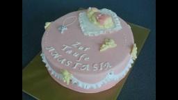 украшаем торт мастикой |Торт на крестины | Рюши из мастики