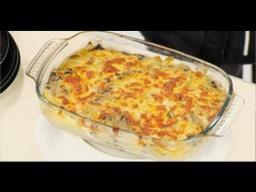 Лазерсон Запеканка из трески с картошкой и грибами Обед безбра
