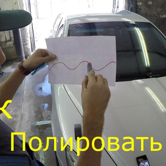 Полировка после покраски автомобиля видео