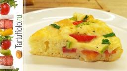 Быстрый пирог (пицца) на сковороде с кабачками | Рецепт А. Митрофановой